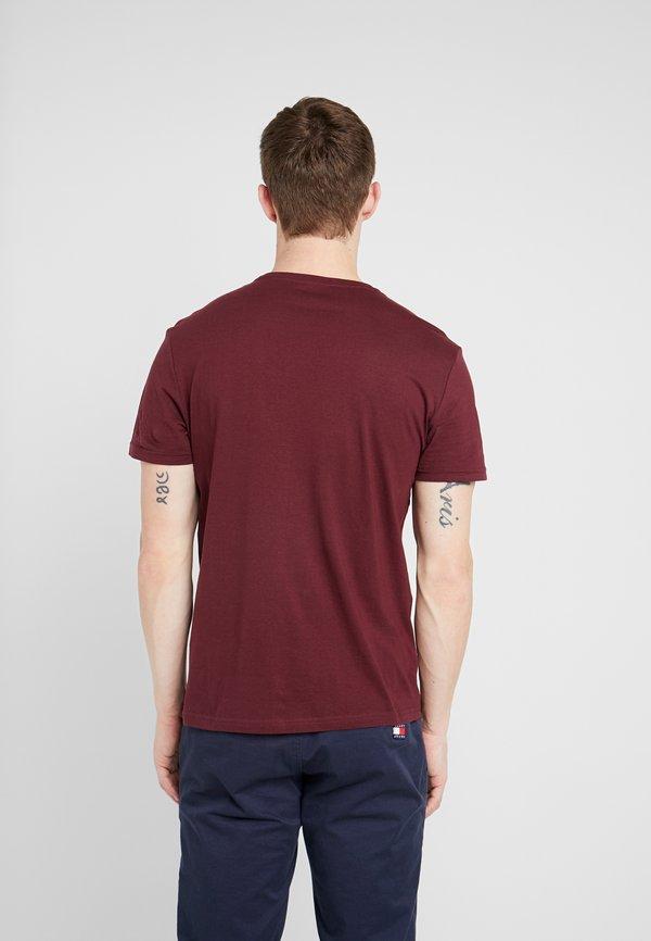 Pier One 2 PACK - T-shirt basic - bordeaux/bordowy Odzież Męska MAMV