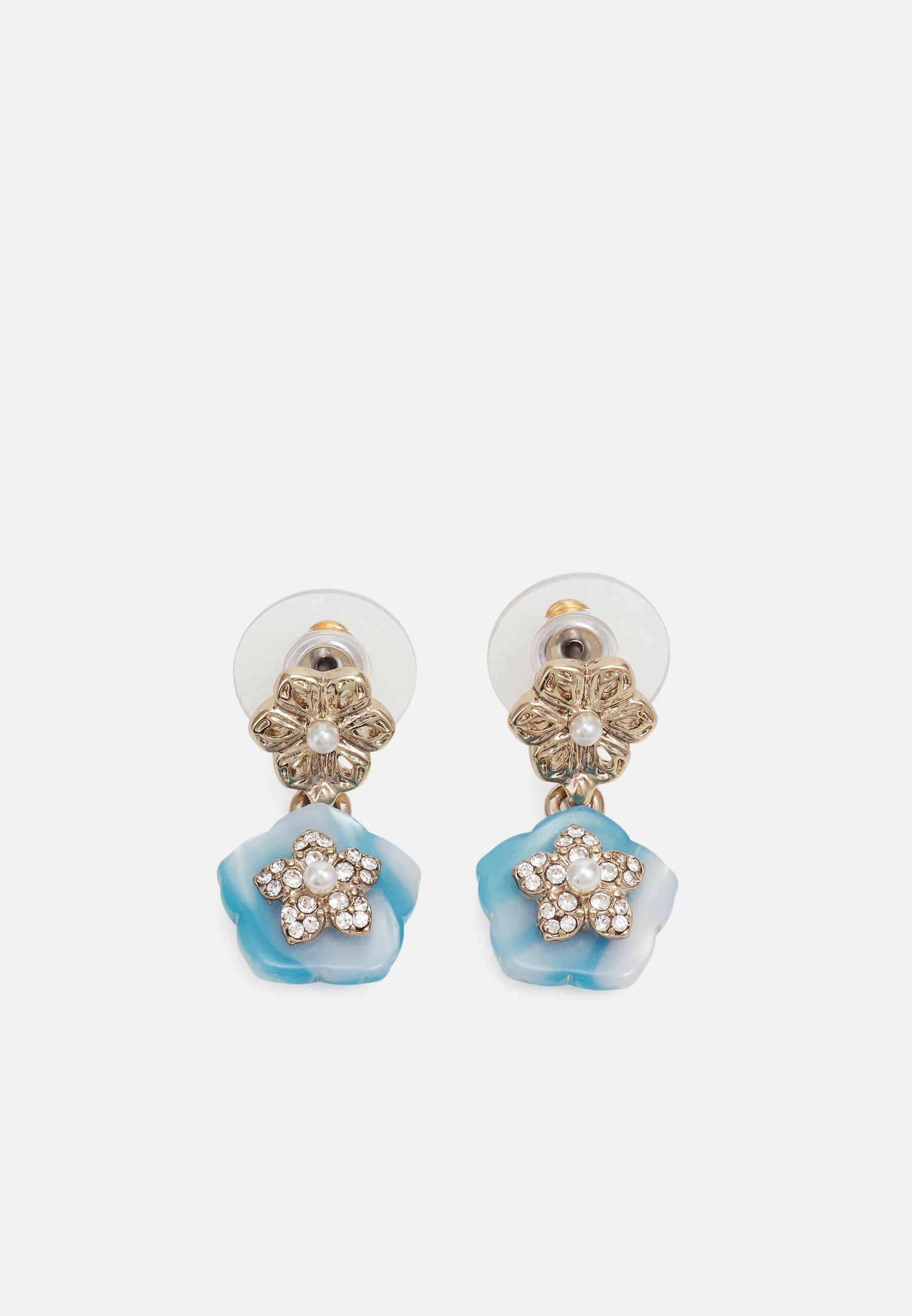 Women FLOWER POST DROP - Earrings