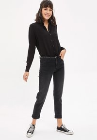 DeFacto - Straight leg jeans - anthracite - 1