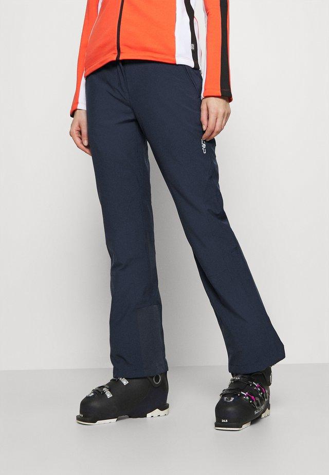 WOMAN PANT - Zimní kalhoty - black/blue