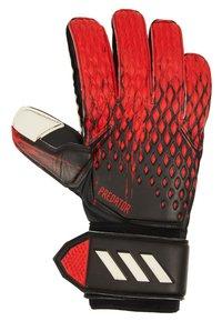adidas Performance - PREDATOR - Goalkeeping gloves - black/actred - 0