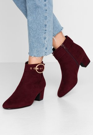 WIDE FIT ARGO - Classic ankle boots - oxblood