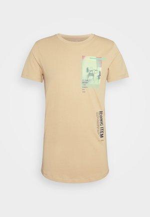 T-shirt med print - lark beige