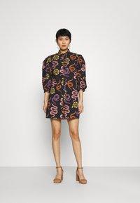 Farm Rio - SNAKES MINI DRESS - Shirt dress - multi - 1