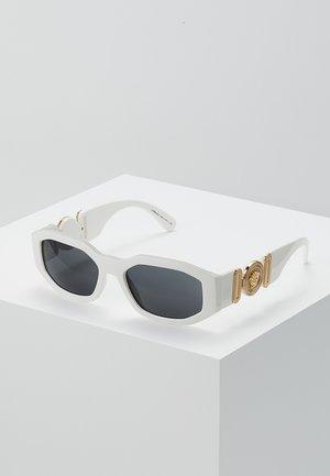 UNISEX - Sunglasses - white/black
