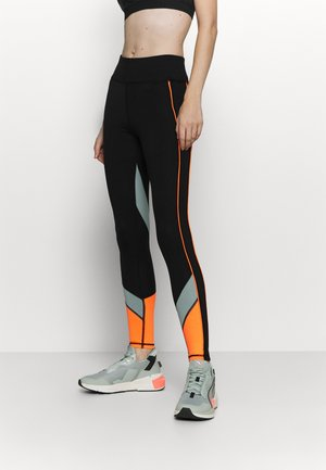 ONPDANDO - Leggings - black/gray mist/sunset orange