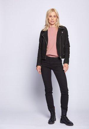 ROMIE - Leather jacket - black