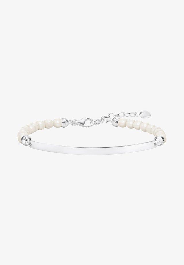 Bracelet - silver-coloured,white