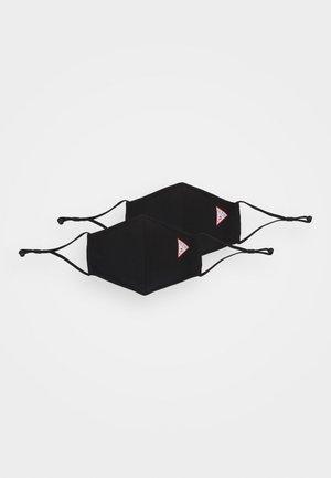 FACEMASK 2 PACK UNISEX - Mascarilla de tela - jet black