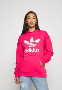 adidas Originals - ADICOLOR TREFOIL ORIGINALS HODDIE - Hoodie - power pink/white - 0
