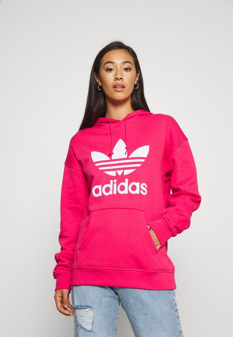 adidas Originals - ADICOLOR TREFOIL ORIGINALS HODDIE - Hoodie - power pink/white