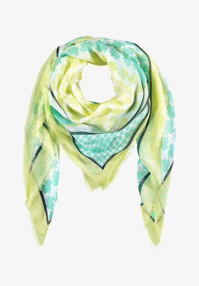 Sjaal - light lime/ aloe/ off-white
