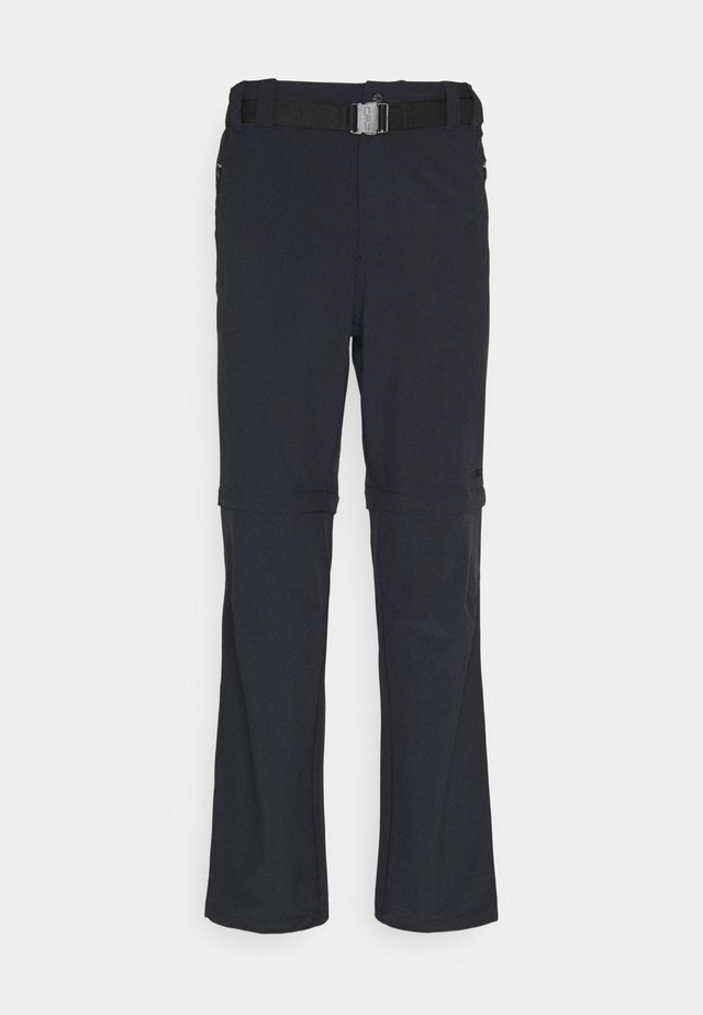 MAN ZIP OFF PANT - Bukser - antracite