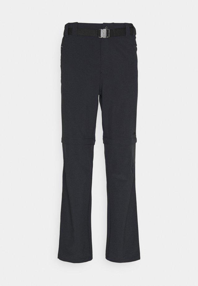 MAN ZIP OFF PANT - Pantaloni - antracite