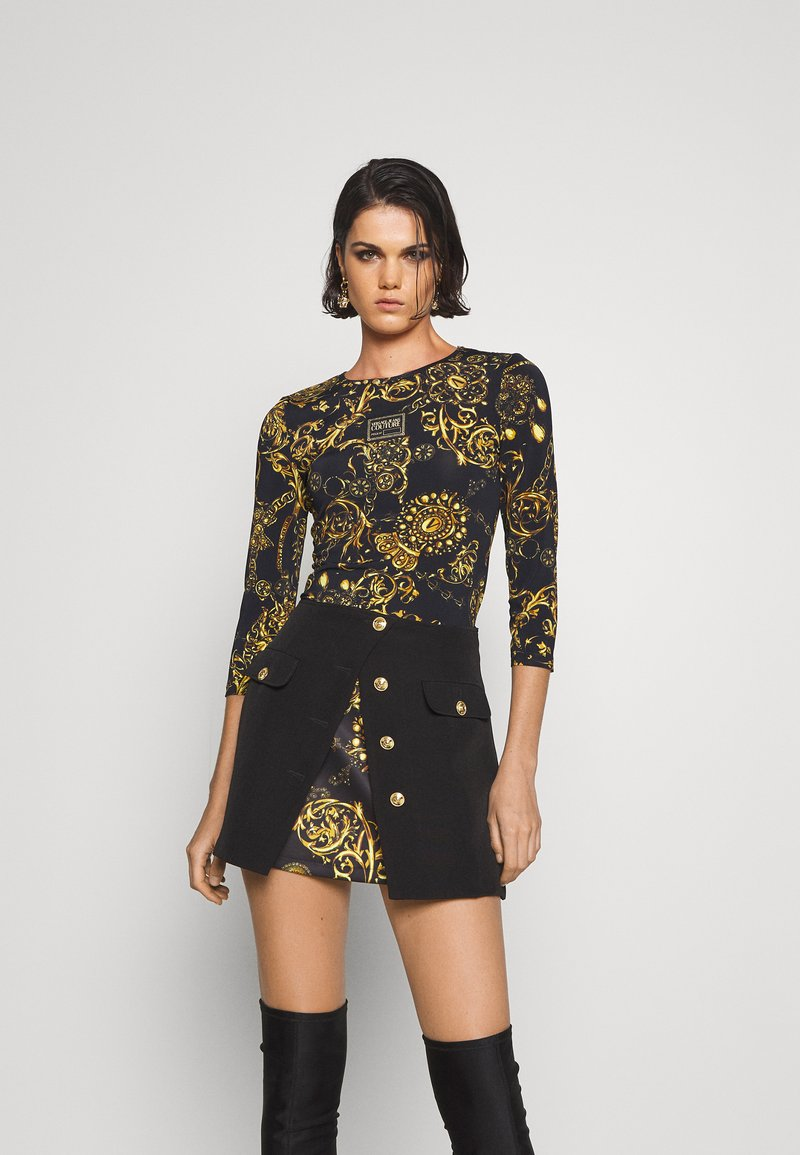 Versace Jeans Couture - Long sleeved top - black/gold