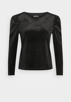 PCPILUA - Long sleeved top - black/gold
