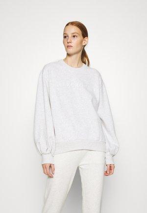 LOGO PUFF SLEEVE CREW - Sweatshirt - grey