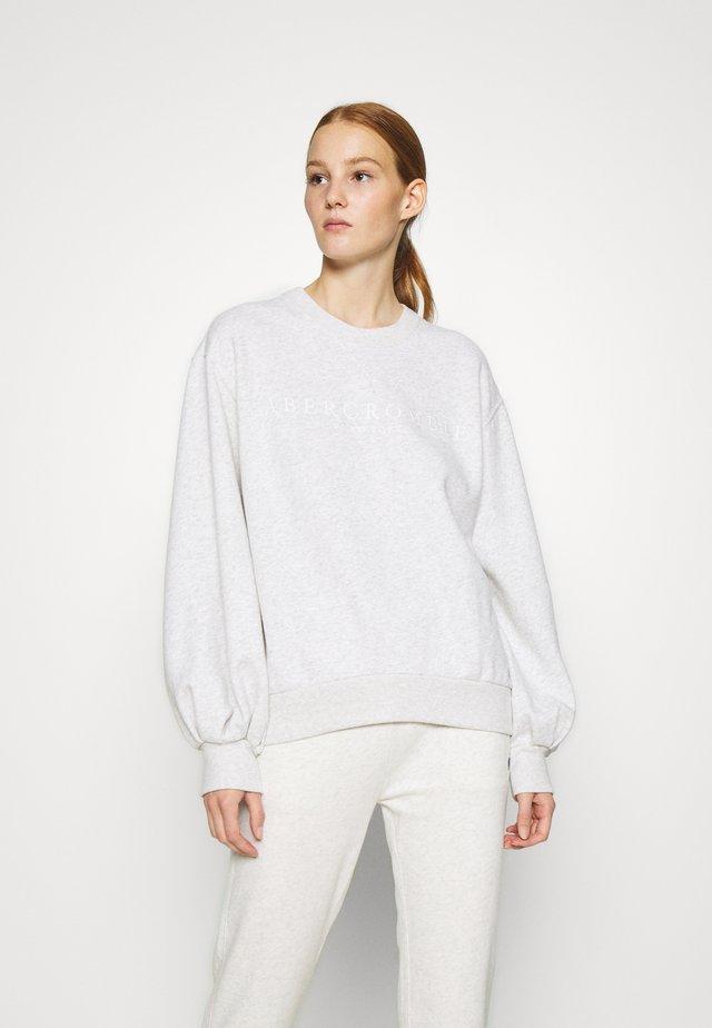 LOGO PUFF SLEEVE CREW - Sweater - grey