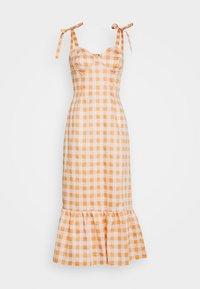 TIE STRAP BUSTIER DRESS - Day dress - orange