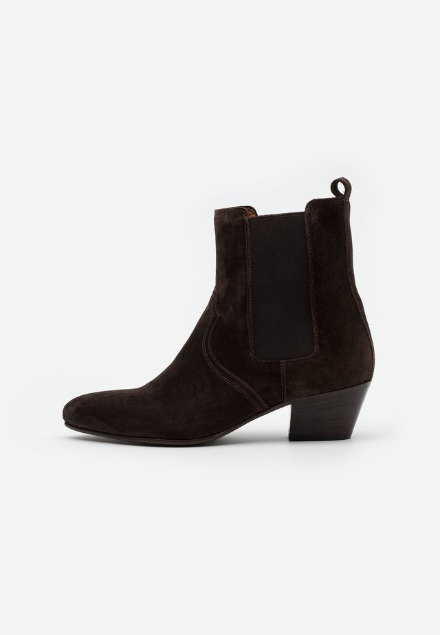 ANISE - Cowboy/biker ankle boot - dark brown