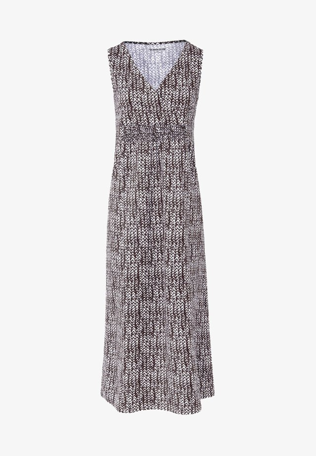 Maxi dress - mocha/white
