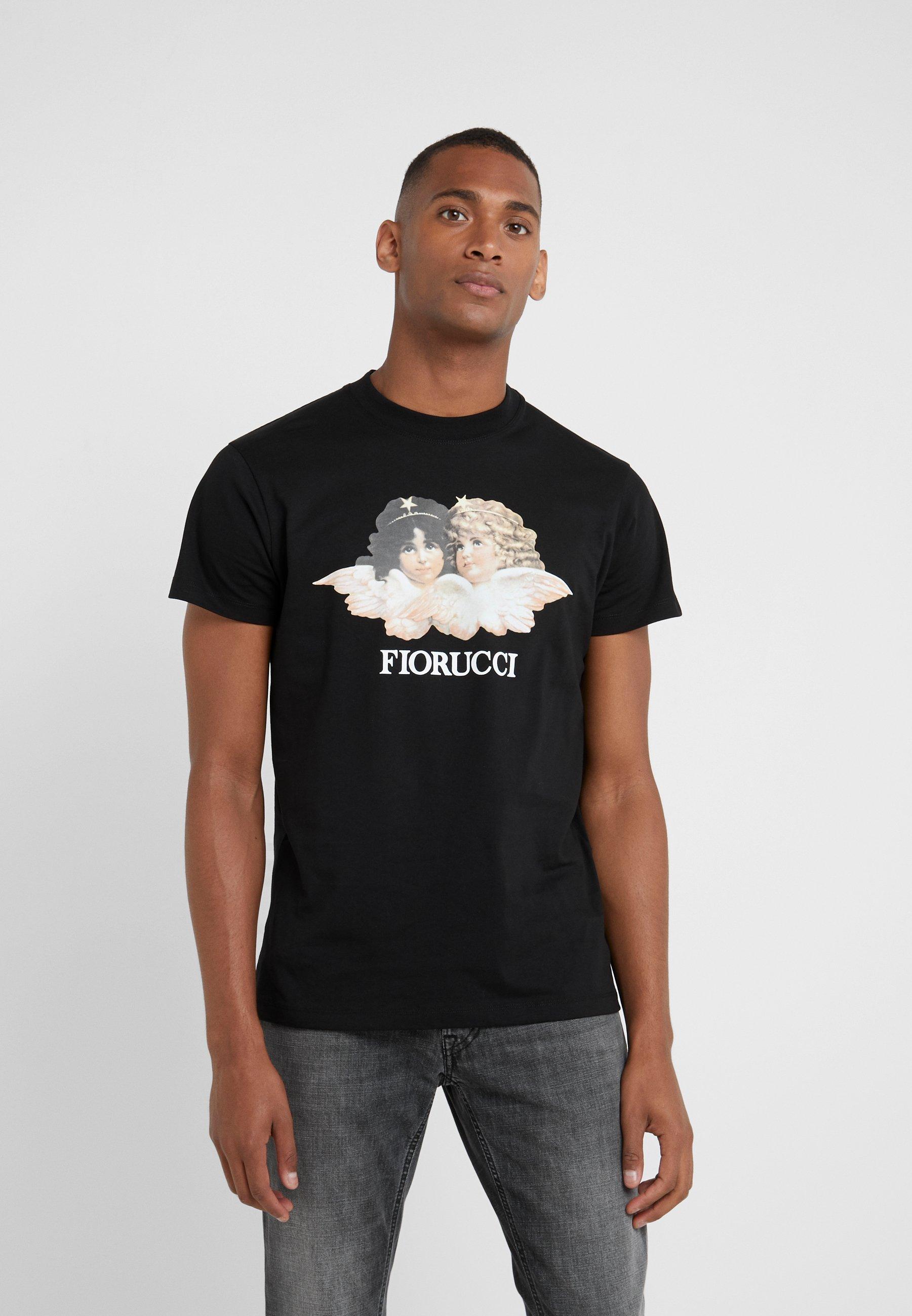 New Styles Men's Clothing Fiorucci VINTAGE ANGELS Print T-shirt black CFHyUPRes