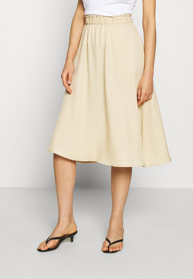 BERTA SKIRT BELLOW KNEE - A-lijn rok - pebble