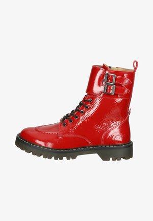 Veterboots - rouge vernis