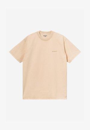 Basic T-shirt - beige acid wash