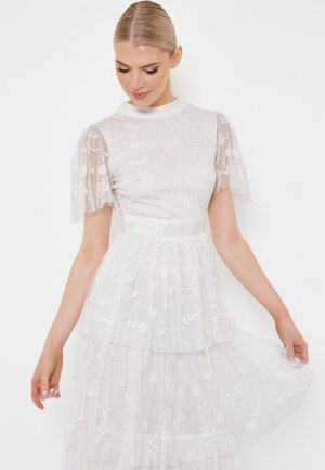 SIAN EMBROIDERED MIDI - Occasion wear - ivory