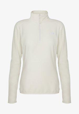 WOMENS 100 GLACIER 1/4 ZIP - Fleecová mikina - vintage white