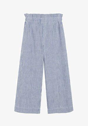 JUPE-CULOTTE RAYURES - Trousers - bleu