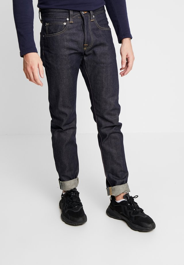 REGULAR TAPERED - Vaqueros rectos - unwashed rainbow selvage denim