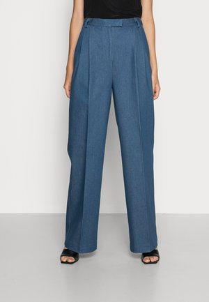 MOORE PANTS - Flared Jeans - blue denim