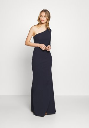 ONE SHOULDER MAXI DRESS - Vestido de fiesta - navy blue