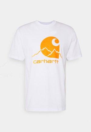 OUTDOOR  - Print T-shirt - white/pop orange