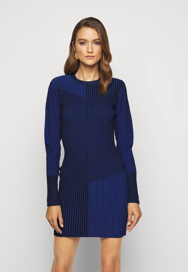 LONG SLEEVE MINI DRESS - Day dress - sapphire