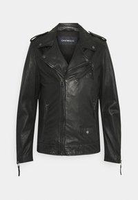 SOLDIER - Leather jacket - black