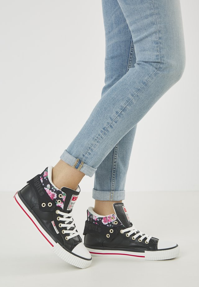 ROCO - Sneakers basse - black/flower