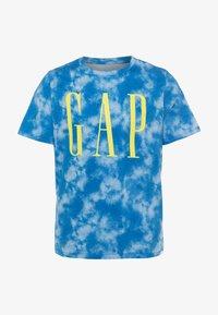 GAP - BOY LOGOMANIA - Print T-shirt - blue - 0