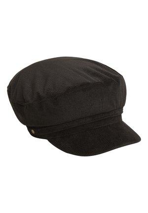BLACK CORD BAKER BOY HAT - Hat - black
