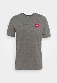 NEVER STOP EXPLORING TEE - T-shirts print - mottled grey