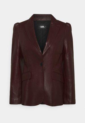 FASHION - Leather jacket - tawny port