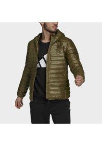 adidas Performance - VARILITE HOODED DOWN JACKET - Winter jacket - focus olive - 5