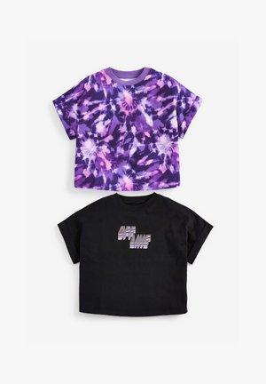 2-PACK - Print T-shirt - black