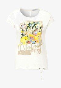 Cecil - MIT PRINT - Print T-shirt - weiß - 3