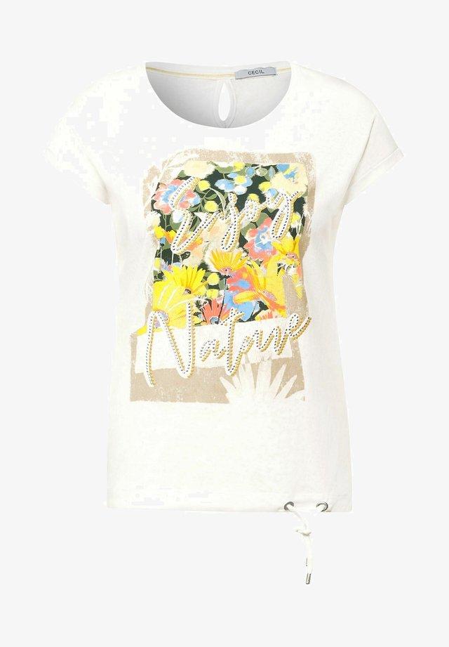 MIT PRINT - T-shirt print - weiß