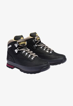 EURO HIKER - Lace-up ankle boots - black nubuck