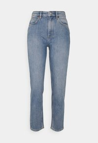 Marc O'Polo - TROUSER MOMS FIT HIGH WAIST - Jeans straight leg - blue denim - 0