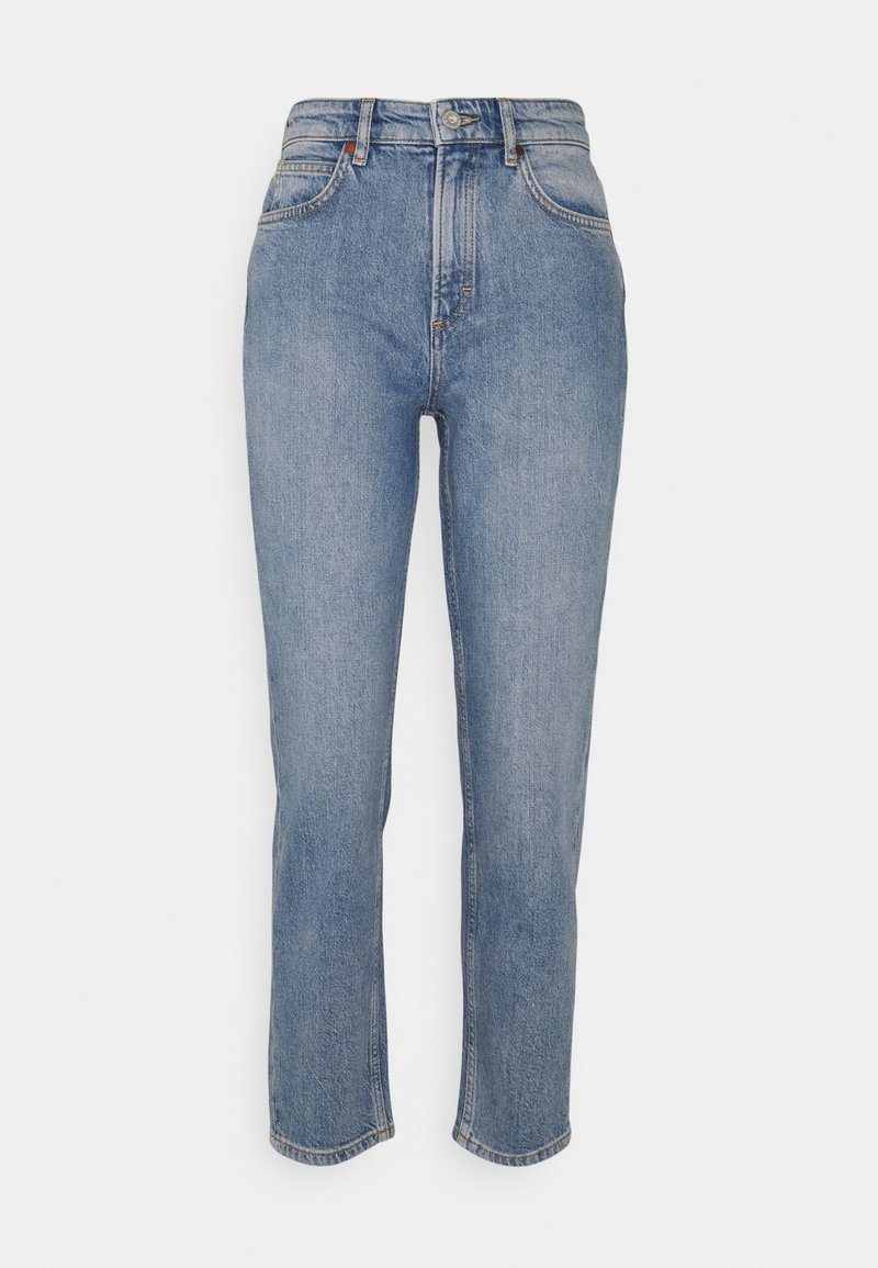 Marc O'Polo - TROUSER MOMS FIT HIGH WAIST - Jeans straight leg - blue denim